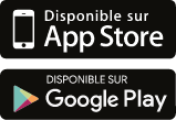 Disponible sur AppStore et Google Play
